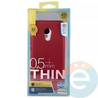 Накладка силиконовая j-Case на Meizu Pro 6 красная