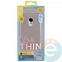 Накладка силиконовая j-Case на Meizu Pro 6 розово-золотистая