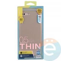 Накладка силиконовая j-Case на Apple iPhone 7 Plus/8 Plus розово-золотистая