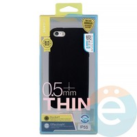 Накладка силиконовая j-Case на Apple iPhone 5/5s/SE чёрна Appleя