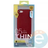 Накладка силиконовая j-Case на Apple iPhone 5/5s/SE красна Appleя