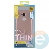 Накладка силиконовая j-Case на Xiаomi Redmi 4 розово-золотистая
