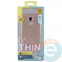 Накладка силиконовая j-Case на Xiаomi Redmi 4 Pro розово-золотистая