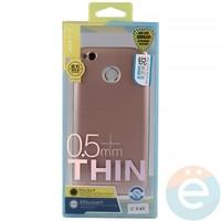 Накладка силиконовая j-Case на Xiаomi Redmi 4x розово-золотистая