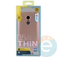 Накладка силиконовая j-Case на Xiаomi Redmi Note 4x розово-золотистая