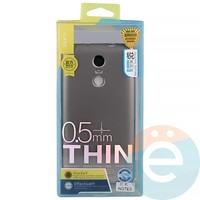 Накладка силиконовая j-Case на Xiаomi Redmi Note 3 серебристая
