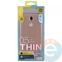 Накладка силиконовая j-Case на Xiаomi Redmi Note 3 розово-золотистая