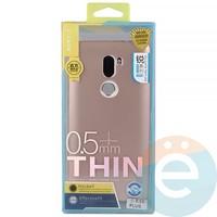 Накладка силиконовая j-Case на Xiаomi Mi 5s Plus розово-золотистая