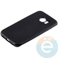 Накладка комбинированная Spigen на Samsung Galaxy S6 Edge чёрная