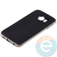 Накладка комбинированная Spigen на Samsung Galaxy S6 Edge золотистая