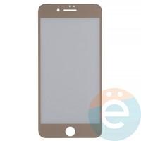 Защитная плёнка 2D на Apple iPhone 7 Plus/8 Plus передняя часть золотистая