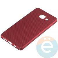 Накладка пластиковая перфорированная на Samsung Galaxy A3 (2016) SM-A310 красная