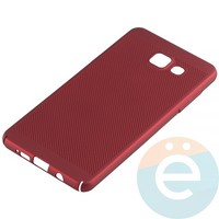 Накладка пластиковая перфорированная на Samsung Galaxy A5 (2016) SM-A510 красная