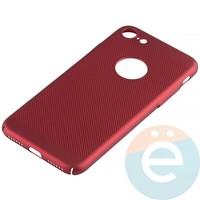 Накладка пластиковая перфорированная для iPhone 7/8 красная