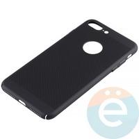 Накладка пластиковая перфорированная на iPhone 7 Plus/8 Plus чёрная