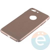 Накладка пластиковая перфорированная на iPhone 7 Plus/8 Plus золотистая