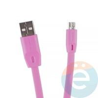 USB кабель Remax Full Speed RC-001m на Micro-USB 2м розовый