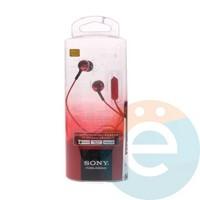 Наушники Sony MDR-EX110AP красные