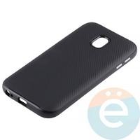 Накладка комбинированная Spigen на Samsung Galaxy J3 SM-J330 (2017) чёрная