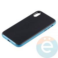 Накладка комбинированная Spigen на Apple iPhone X голубая