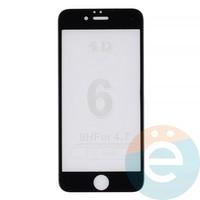 Защитное стекло 4D на Apple iPhone 6/6s матовое чёрное