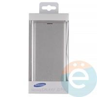 Чехол-книжка боковой на Samsung Galaxy J3 Pro серебристый