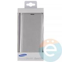 Чехол-книжка боковой на Samsung Galaxy J3 SM-J330 (2017) серебристый