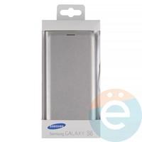 Чехол-книжка боковой на Samsung Galaxy S6 серебристый
