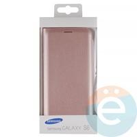Чехол-книжка боковой на Samsung Galaxy S6 бронзовый