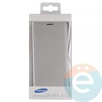Чехол-книжка боковой на Samsung Galaxy J5 Prime серебристый