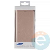 Чехол-книжка боковой на Samsung Galaxy J2 Prime золотистый