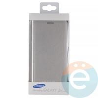 Чехол-книжка боковой на Samsung Galaxy J2 Prime серебристый