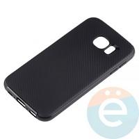 Накладка комбинированная Spigen на Samsung Galaxy S6 чёрная