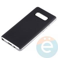 Накладка комбинированная Spigen на Samsung Galaxy Note 8 серебристая