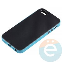 Накладка комбинированная Spigen на Apple iPhone 5/5s/SE голубая