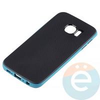Накладка комбинированная Spigen на Samsung Galaxy S6 Edge голубая