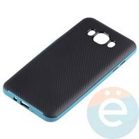Накладка комбинированная Spigen на Samsung Galaxy J7 SM-J710 (2016) голубая