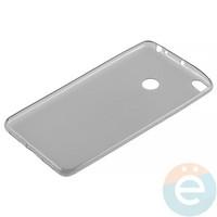 Накладка силиконовая ультра-тонкая на Xiaomi Mi Max 2 тёмно-прозрачная