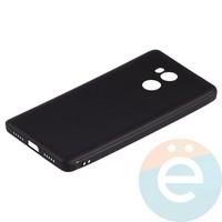 Накладка силиконовая Soft Touch ультратонкая на Xiaomi Redmi 4 Prime чёрная