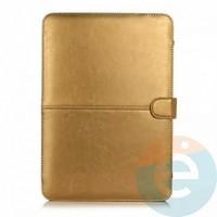 """Чехол-книжка кожаный на MacBook 13.3"""" Retina золотистый"""