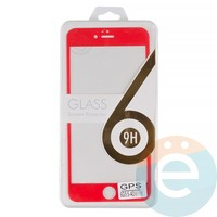 Защитное стекло 3D fiber с мягкими краями на Apple iPhone 6 Plus/6s Plus красное