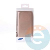 Чехол-книжка боковой на Samsung Galaxy S7 золотистый