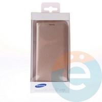 Чехол-книжка боковой на Samsung Galaxy S7 Edge золотистый